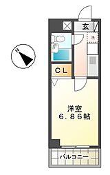 愛知県名古屋市名東区上社4丁目の賃貸マンションの間取り