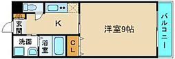 U−ro勝山 仲介手数料10800円 専用消毒も不要[5階]の間取り