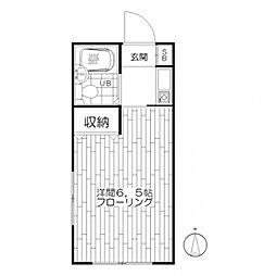 鞠子マンション[3階]の間取り