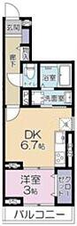 (仮称)大宮区吉敷町3丁目project 2階1DKの間取り