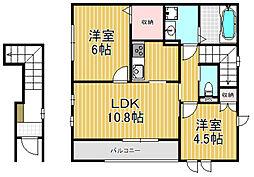 ADEKA-TII[2階]の間取り