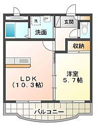 愛知県岡崎市大門2丁目の賃貸マンションの間取り