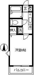 ドミール武蔵小杉[105号室]の間取り