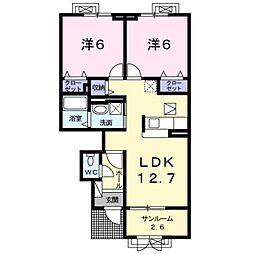 LaLe E[1階]の間取り