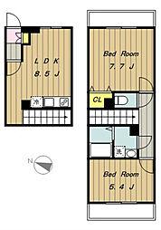 SAIKO2[203号室]の間取り