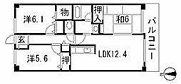 カサベルデ石神井台[1階]の間取り