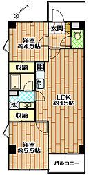 T2パレス[4階]の間取り