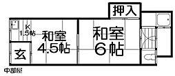 [テラスハウス] 大阪府寝屋川市石津中町 の賃貸【/】の間取り