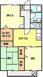 T−net ドリームガーデン[207号室]の間取り