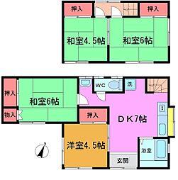 [一戸建] 千葉県市川市本北方1丁目 の賃貸【/】の間取り