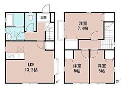 [一戸建] 千葉県鎌ケ谷市東初富3丁目 の賃貸【/】の間取り