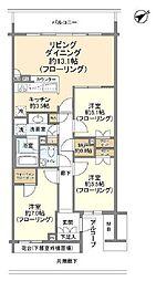 桜プレイス 9階3LDKの間取り