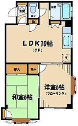 神奈川県川崎市多摩区中野島4丁目の賃貸マンションの間取り