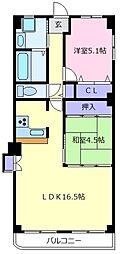 初芝レックスマンション[1階]の間取り