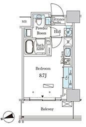 パークアクシス大塚ステーションゲートタワー 12階ワンルームの間取り