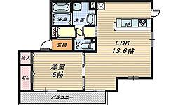 リーベスハイム[2階]の間取り