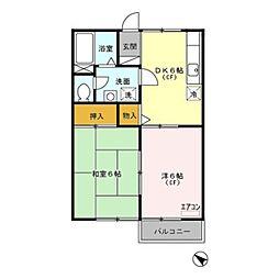 埼玉県さいたま市南区大字円正寺の賃貸アパートの間取り