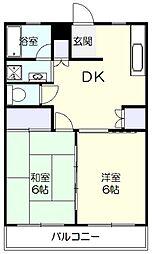 アモー藤が丘[2階]の間取り