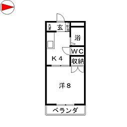 クリスタルハイツ[1階]の間取り