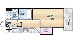 Osaka Metro谷町線 田辺駅 徒歩2分の賃貸マンション 7階1Kの間取り