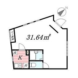 Casa DelMare[1号室]の間取り