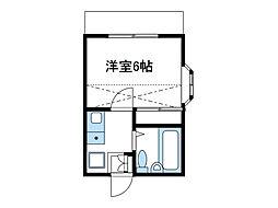神奈川県相模原市南区相南2丁目の賃貸アパートの間取り