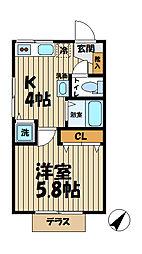 Raffine Kasama[103号室]の間取り