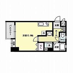 ラ・レジダンス・ド・西新[2階]の間取り