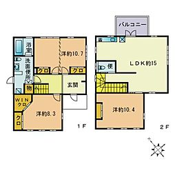 [一戸建] 福岡県福岡市南区若久4丁目 の賃貸【/】の間取り
