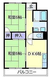 メゾンドシャトレ[2階]の間取り