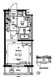 アークマーク中野鷺宮 1階1Kの間取り