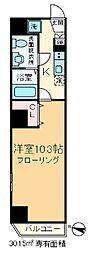 東京都北区滝野川7丁目の賃貸マンションの間取り