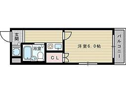 SHE'S新大阪[3階]の間取り