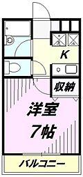 埼玉県所沢市西所沢2丁目の賃貸マンションの間取り
