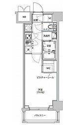 ハーモニーレジデンス東京イーストサイド 1階1Kの間取り