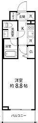 東京メトロ副都心線 地下鉄赤塚駅 徒歩3分の賃貸マンション 3階1Kの間取り