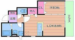 ルクレ[2階]の間取り