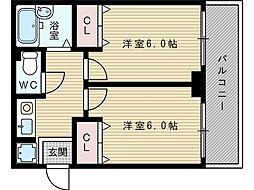 Dorm淡路[3階]の間取り