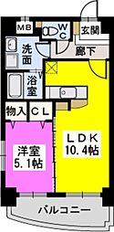 ラ・ルーチェ[4階]の間取り