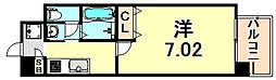 阪急神戸本線 春日野道駅 徒歩1分の賃貸マンション 3階1Kの間取り