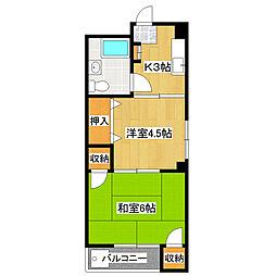 八木沼マンション[2階]の間取り