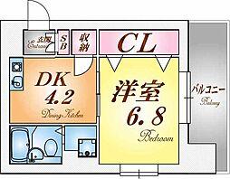 兵庫県神戸市北区若葉台4丁目の賃貸マンションの間取り