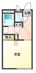 愛知県豊川市御油町当座山の賃貸アパートの間取り