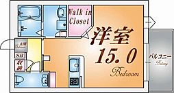 シャーメゾン上野[2階]の間取り