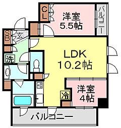 パークアクシス浅草橋[14階]の間取り