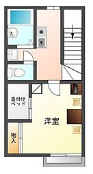 愛知県豊川市八幡町鐘鋳場の賃貸アパートの間取り