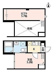 埼玉県さいたま市大宮区天沼町1丁目の賃貸アパートの間取り