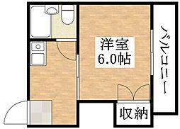 プレアール平野東[5階]の間取り