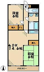 アルカサーノ永山[3階]の間取り