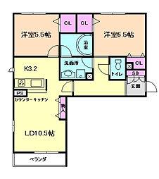 シャーメゾンワカバ[3階]の間取り